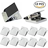 #4: Magnetic Clips,Kereda 12 PCS Square Refrigerator Magnetic Hook Clips, Fridge Magnets Refrigerator Magnet Office Magnets Photo Magnets with Neodymium Magnet for House & Office