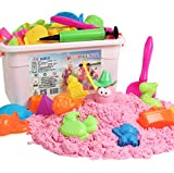 XinQueen 0.5kg Mega Sand Refill Package Kinetic Play Sand for Children Sand with 46 Pcs Beach Toy Sand Set for Kids, Sand Play Set with Sand Models Sandbox