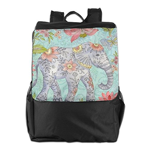 Travel School Outdoors and Strap Elephant Dayback Personalized for Storage Camping Women Colorful Backpack Adjustable HSVCUY Men Shoulder qZxt1X5wn5