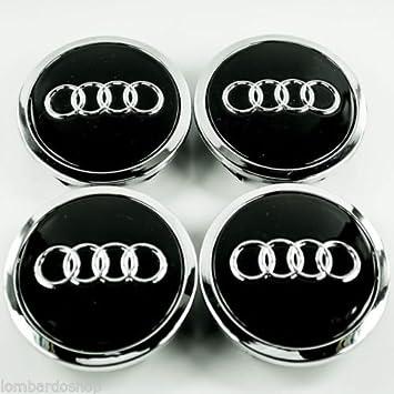 4 x tachuelas de 68 mm para tapacubos con símbolo Audi: Amazon.es: Coche y moto