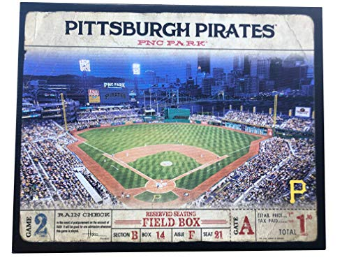 Artissimo Designs Plank Sports Stadium and Arenas Canvas Artwork (Pittsburgh Pirates)