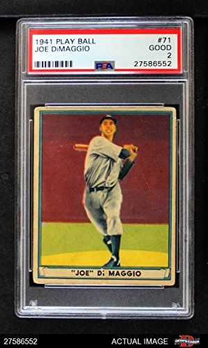 1941 Play Ball # 71 Joe DiMaggio New York Yankees (Baseball Card) PSA 2 - GOOD Yankees ()