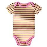 Cheelibaby Baby Girls One Piece Bodysuits Short Sleeve 100% Cotton