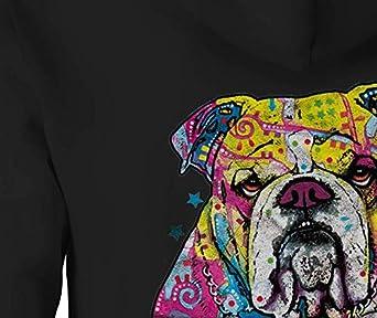 Zip Up Hoodie Bulldog Hooded Sweatshirt for Men