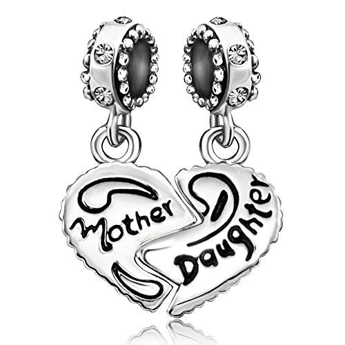 be7b07cb4 JMQJewelry Mom Mother Heart Daughter Jan-Dec Dangle Charms Bead for  Bracelets