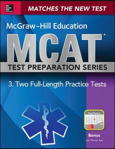 McGraw-Hill Education MCAT 2 Full-length Practice Tests 2015, Cross-Platform Edition (Length Cross)