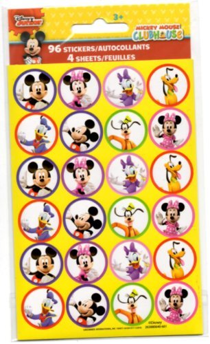 Mickey Mouse and Friends Round Sticker Seals -