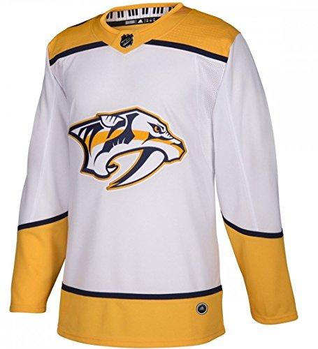 adidas Nashville Predators Road White NHL Men's Climalite Authentic Team Hockey Jersey (54 XL)