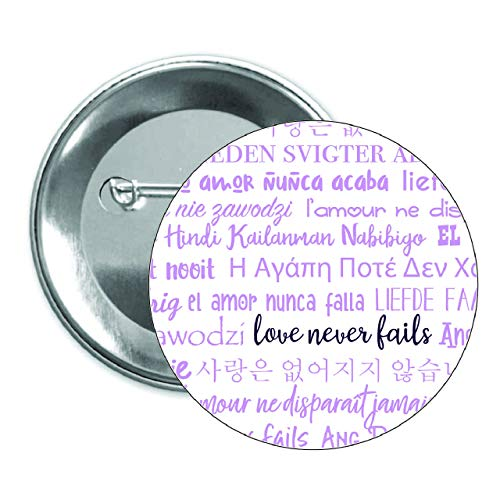 Button Pinback Love (Love Never Fails Pinback Button 50 pack purple JW International Convention 2019 Gift)
