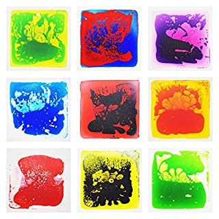 """Art3d Liquid Fusion Activity Play Centers for Children, Toddler, Teens, 12"""" X 12"""" Pack of 9 Tiles"""
