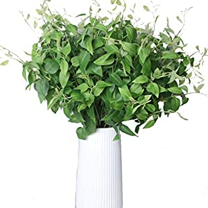 UUPP 6pcs Artificial Shrubs 23.6'' Fake Silk Clematis Bushes Faux Greenery Ivy Leaves Plants for Indoor Outside Home Garden Office Verandah Wedding Decor 52
