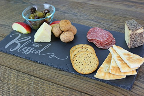 Slate Cheese Board, Rectangle Cheese Board, Custom Cheese Board, Charcuterie Board, Slate Platter, Appetizer, Blessed, Thanksgiving