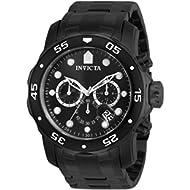Men's 'Pro Diver' Swiss Quartz Stainless Steel Sport Watch, Color:Black (Model: 0076)