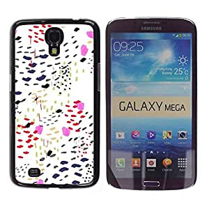 Be Good Phone Accessory // Dura Cáscara cubierta Protectora Caso Carcasa Funda de Protección para Samsung Galaxy Mega 6.3 I9200 SGH-i527 // Pattern Dots Pink Kisses Stylish