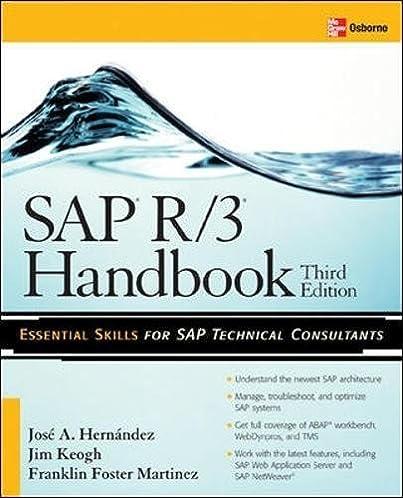 sap r 3 handbook third edition jose antonio hernandez franklin rh amazon com common sap r/3 functions manual sap r/3 manual