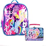 """My Little Pony Preschool Backpack Toddler (10"""" Mini Backpack) with My Little Pony Mini Lunch Box Tin with Puzzle"""