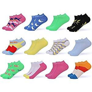 Gallery Seven Women's Ankle Socks - Low Cut Colorful Socks For Women - Size 9 -11, Enclosed in A Gift Pack - 12 Pack (Style - 1)
