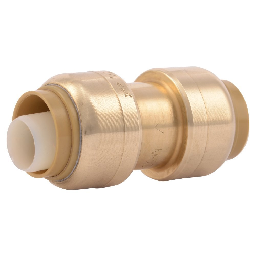 SharkBite 1//2-Inch Straight Coupling CPVC 4 Count PEX Copper Push-to-Connect