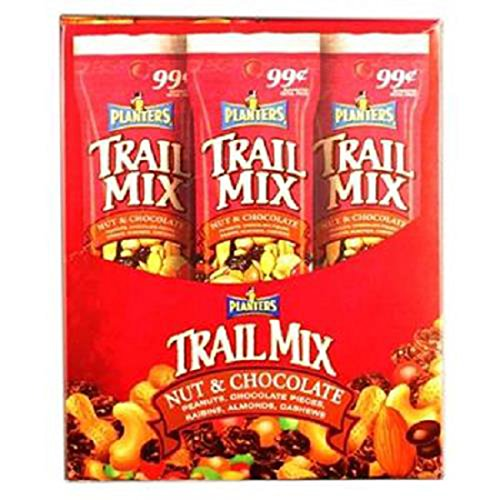 Product Of Planters , Trail Mix Nut & Chocolate, Count 18 (1.7 oz) - Nut & Dry Fruit / Grab Varieties & Flavors ()