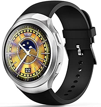 LEMFO LES2 - 3G Smartwatch Phone Android 1GB + 16GB Monitor de pulso cardiaco GPS Wifi Bluetooth Plata