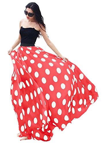 (Urban CoCo Women's Fashion Chiffon High-Waist Summer Long Maxi Skirt (XX-Large,)