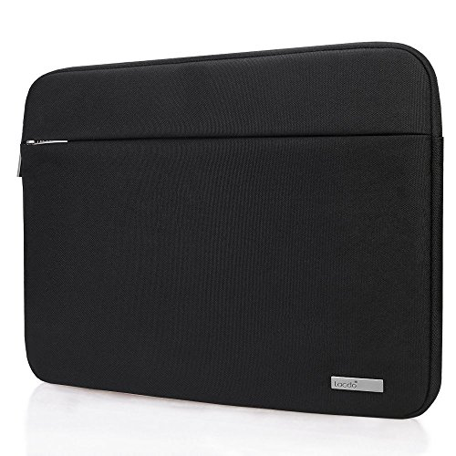 Lacdo 15.6 Inch Laptop Sleeve Bag for Acer Aspire / Predator, Toshiba, Dell Inspiron, ASUS P-Series, HP Pavilion, Lenovo, MSI GL62M, Chromebook Notebook Carrying Case Tablet, Water Resistant, Black (Series Notebook Bag)