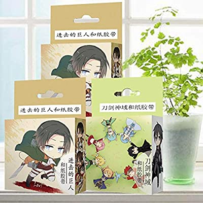 St.Mandyu My Hero Academia Masking Paper Tape Set, Decorative Adhesive Tape for Crafts Seal Sticker, Beautify Bullet Journals, Office School Supplies(A-H08): Office Products