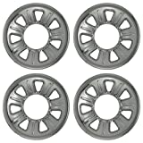 Set of 4 Chrome Wheel Skin Hubcaps: Ford Ranger (2001 - 2011) & Mazda B series (2001 - 2010) 15x7 Inch 5 Lug 7 Slot Steel Rim -Aftermarket: IMP/21