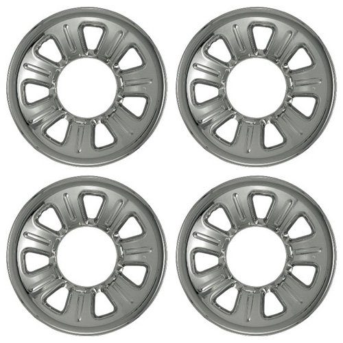 Set of 4 Chrome Wheel Skin Hubcaps: Ford Ranger (2001 – 2011) & Mazda B series (2001 – 2010) 15×7 Inch 5 Lug 7 Slot Steel Rim -Aftermarket: IMP/21