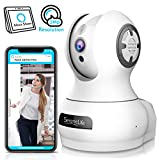 SereneLife 3MP Indoor Cloud Cam - Alexa Compatible - Face Detection Smart Tracking PTZ - Ultra HD 1536p Wireless Home Security Pet Monitoring w/Motion Detect, Night Vision Video - IPCAMHD85
