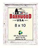 Cheap BarnwoodUSA   Signature Picture Frame – 100% Up-cycled Reclaimed Wood (8×10, White Washed)