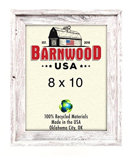 Cheap BarnwoodUSA | Signature Picture Frame – 100% Up-cycled Reclaimed Wood (8×10, White Washed)