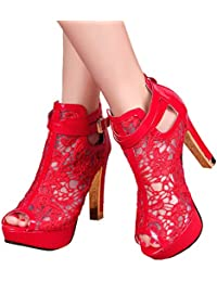 Amazon.com: Red - Ankle & Bootie / Boots: Clothing, Shoes & Jewelry