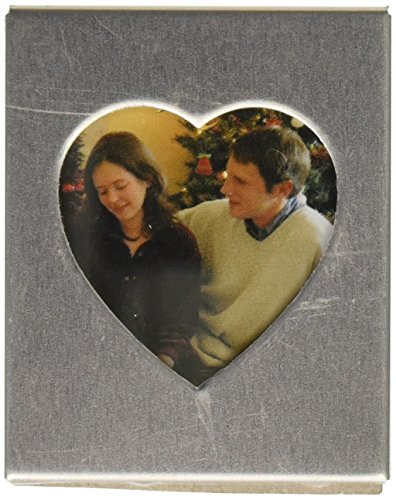 Magnetic Silver Heart Photo Frame Favors (Pack of 3) ()