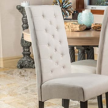 Darby Natural Linen Dining Chair Set of 2