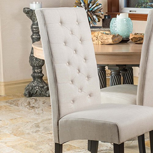 Christopher Knight Home Darby Natural Linen Dining Chair Set of 2