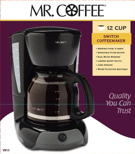 Mr Coffee Maker Cleaning Instructions : Mr. Coffee VB 12-Cup Switch Coffeemaker - Gourmet Coffee & Equipment