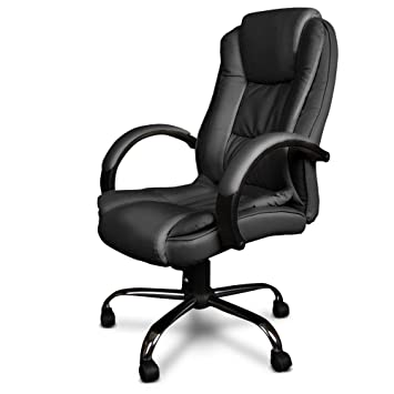 new executive pu leather office computer chair black 27 padded executive premium pu faux leather office computer chair black 27