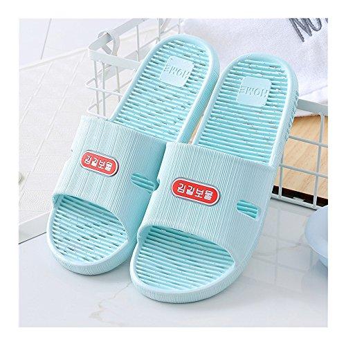 de avec des massage Bleu Ciel d'intérieur bleu de salle et Pantoufles Sandale femmes pour de hommes bain d'été Pantoufles mode antidérapante Sandale d'été pieds 36 Sandale 37 ciel HqETfSw4Of