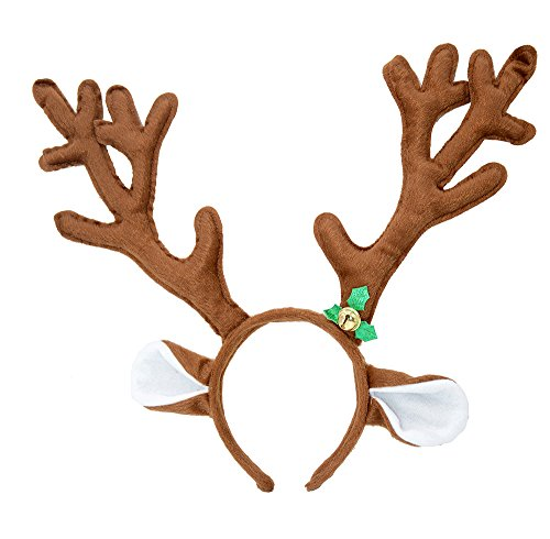 Price comparison product image Reindeer Antlers Headband Halloween and Christmas and Easter Party Headbands (Brown)