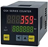 CG Series Counting Digital Counter Digital Counting Machine CG4 48x48mm with 6 Digit Led Display (110V)
