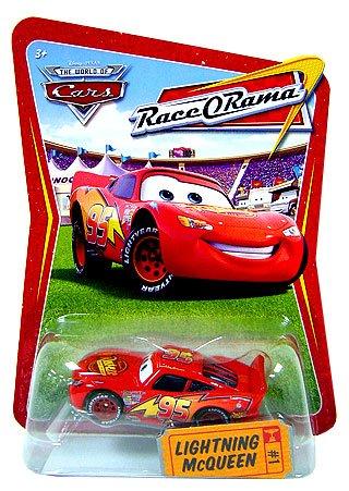 Disney / Pixar CARS Movie 1:55 Die Cast Race-O-Rama Package Lightning McQueen by Mattel