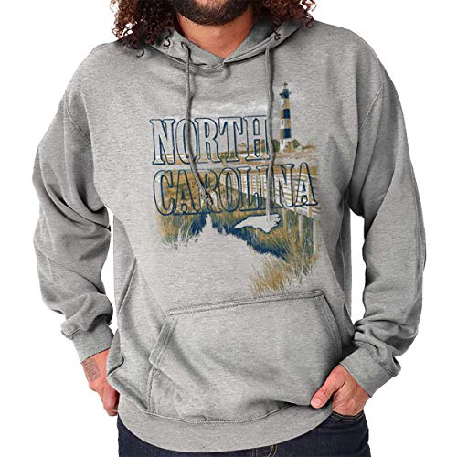 (North Carolina Lighthouse Cape Hatteras NC Hoodie Sport Grey)
