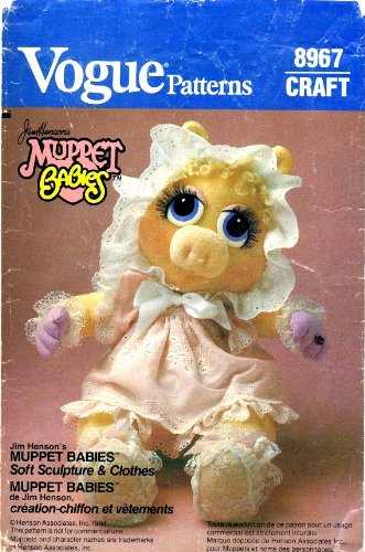 Vogue 8967 Vintage Sewing Pattern Jim Henson's Muppet Baby Miss (Uncut Vogue Sewing Pattern)