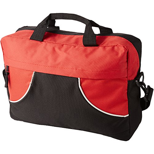 (Bullet Chicago Conference Bag (15.4 x 3.9 x 12.2 inches) (Solid Black,Red))