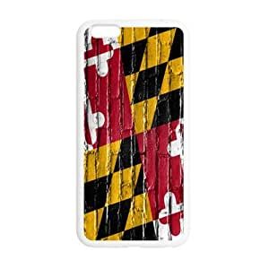 5.5inches Slim And Stylish Maryland States Flag Wall Pattern iPhone 6 Plus TPU(Laser Technology) Case Cover for White And Black