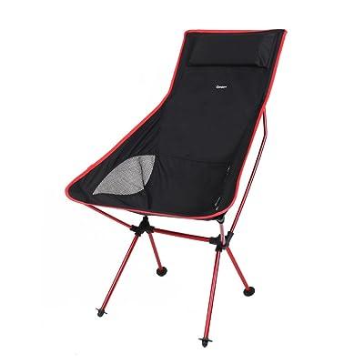 candora ™ portable ultra léger Chaise pliante, 330lbs Capacité avec taie d'oreiller et longueur étendue règlement Prévention très résistant Siège Pliable pour Camp