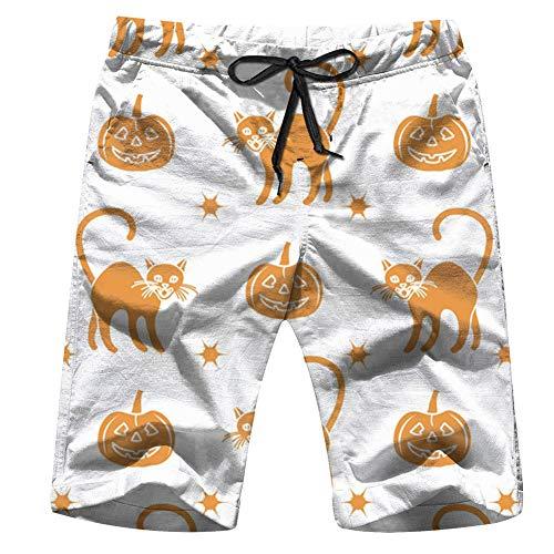 Halloween 2019 Pumpkins Holidays Men's Swim Trunks Beach Short Board Shorts XL]()