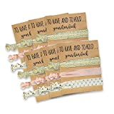 Bridesmaid Gifts Set of 6 Hair Tie Cards | Bachelorette Party Favors | Wedding Party Favors | Bridal Shower Favors