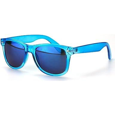Sense42 Retro Metall Sonnenbrille mit grünem Rahmen, grün verspiegelte Gläser, Nerdbrille Wayfarer-Stil Damen Herren Unisex mit Brillenbeutel